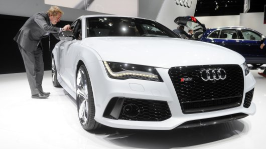 Ein Audi RS 7 Sportback bei der North American International Auto Show (NAIAS) in Detroit.