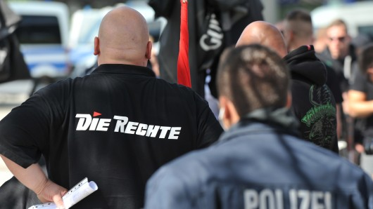 Knapp 270 Neonazis haben in Goslar demonstriert (Archivbild).