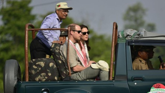 William und Kate im indischen Kaziranga-Nationalpark.