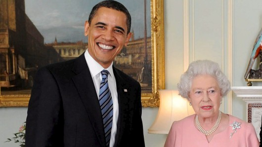 US-Präsident Barack Obama trifft in London auf Queen Elizabeth II.