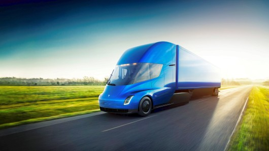 The Tesla Semi, the company's electric big-rig truck is seen in this undated handout image released on November 16, 2017. Tesla/Handout via REUTERS ATTENTION EDITORS - THIS IMAGE WAS PROVIDED BY A THIRD PARTY. NO RESALES. NO ARCHIVE.
